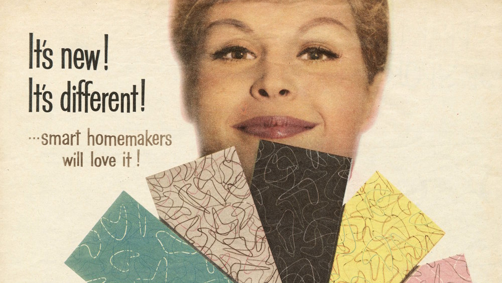 Old advertising of the famous Boomerang pattern designed for Formica.
