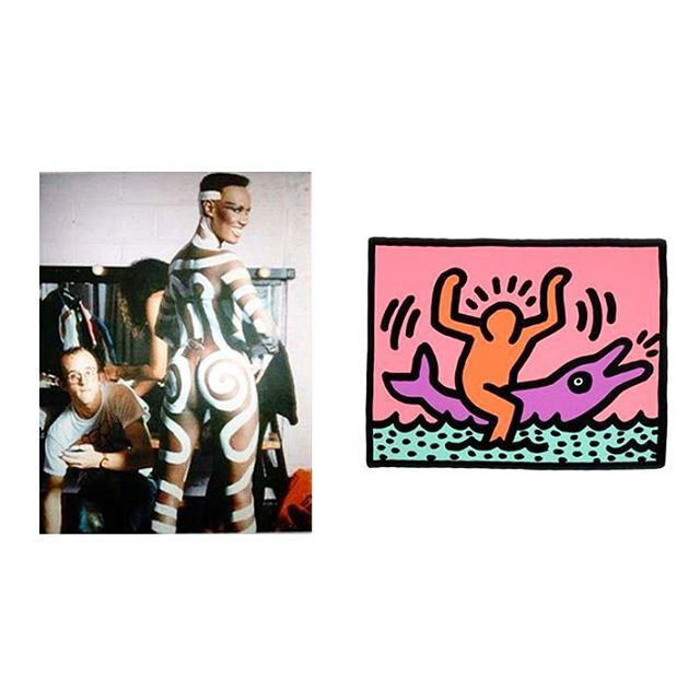 It's Friday! 🍑🐬🍑🐬🍑 #keithharing #gracejones #dolphin #online #instore #globalbrands #ethicalfashion #stories #design #details #pattern #follow #happiness #london