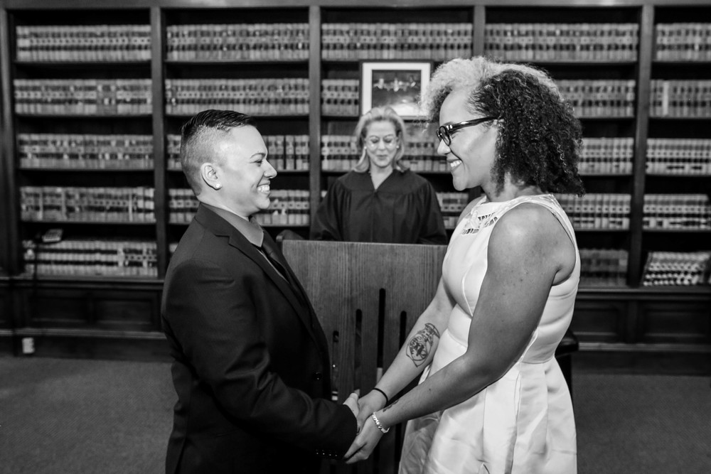Lesbian City Hall Wedding Philadelphia