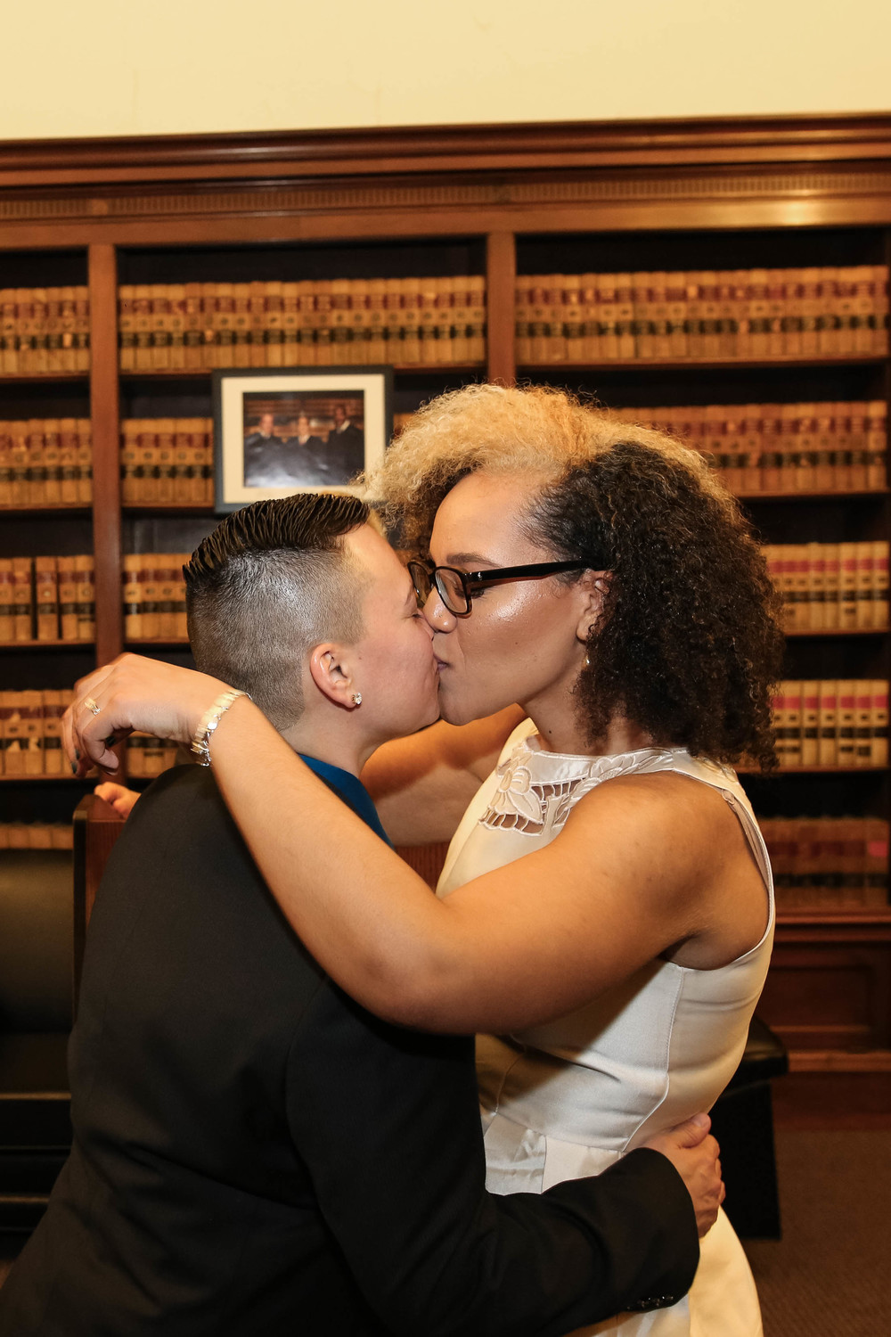 Sophia and Lisa Philadelphia City Hall Lesbian Elopement by Swiger Photography, Philly's Lesbian Photographer