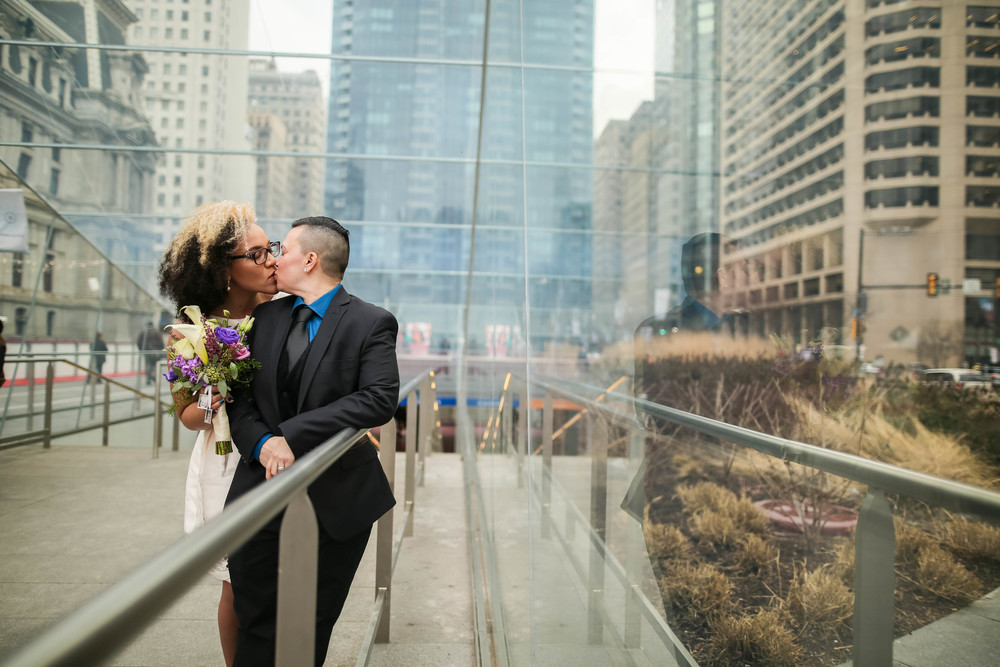 Sophia and Lisa - A Philadelphia City Hall Lesbian Elopement by Swiger Photography, Philly's Lesbian Photographer.  www.swigerphotography.com