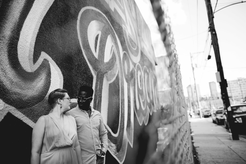An Urban Philadelphia Reading Viaduct Engagement Session by LGBTQ photographer Swiger Photography
