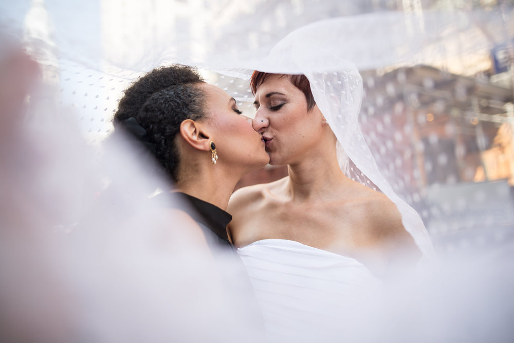 Wedding Wednesday Blog Post on Why We Love Veils.  LGBT Friendly Philadelphia Photographer Swiger Photography