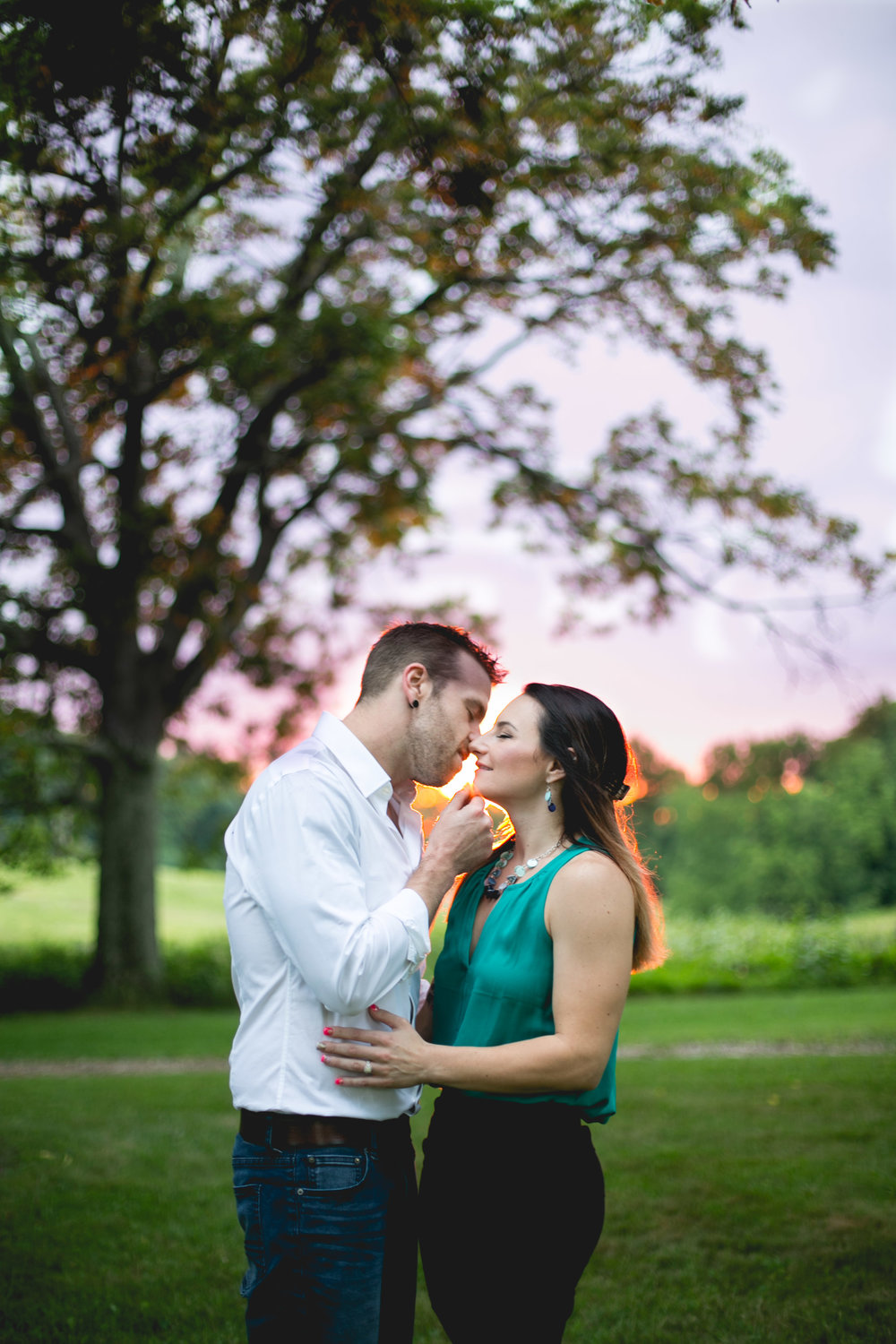 These two lucked out and got all the glow and sunset prettiness at their engagement session!