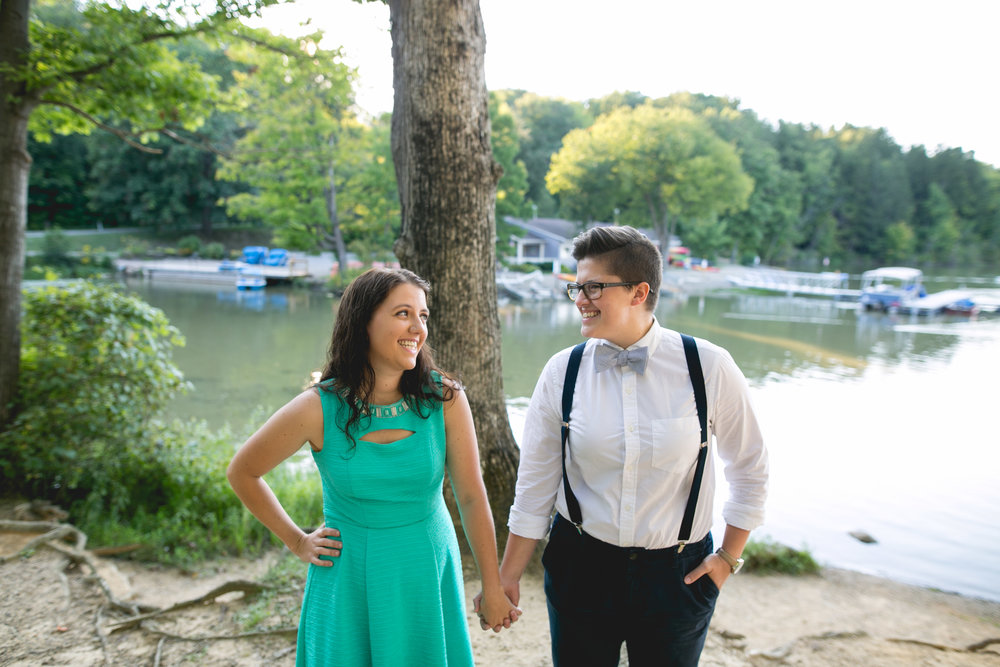 A Northern Ohio Lesbian Engagement Session by Swiger Photography, the lesbian photographer