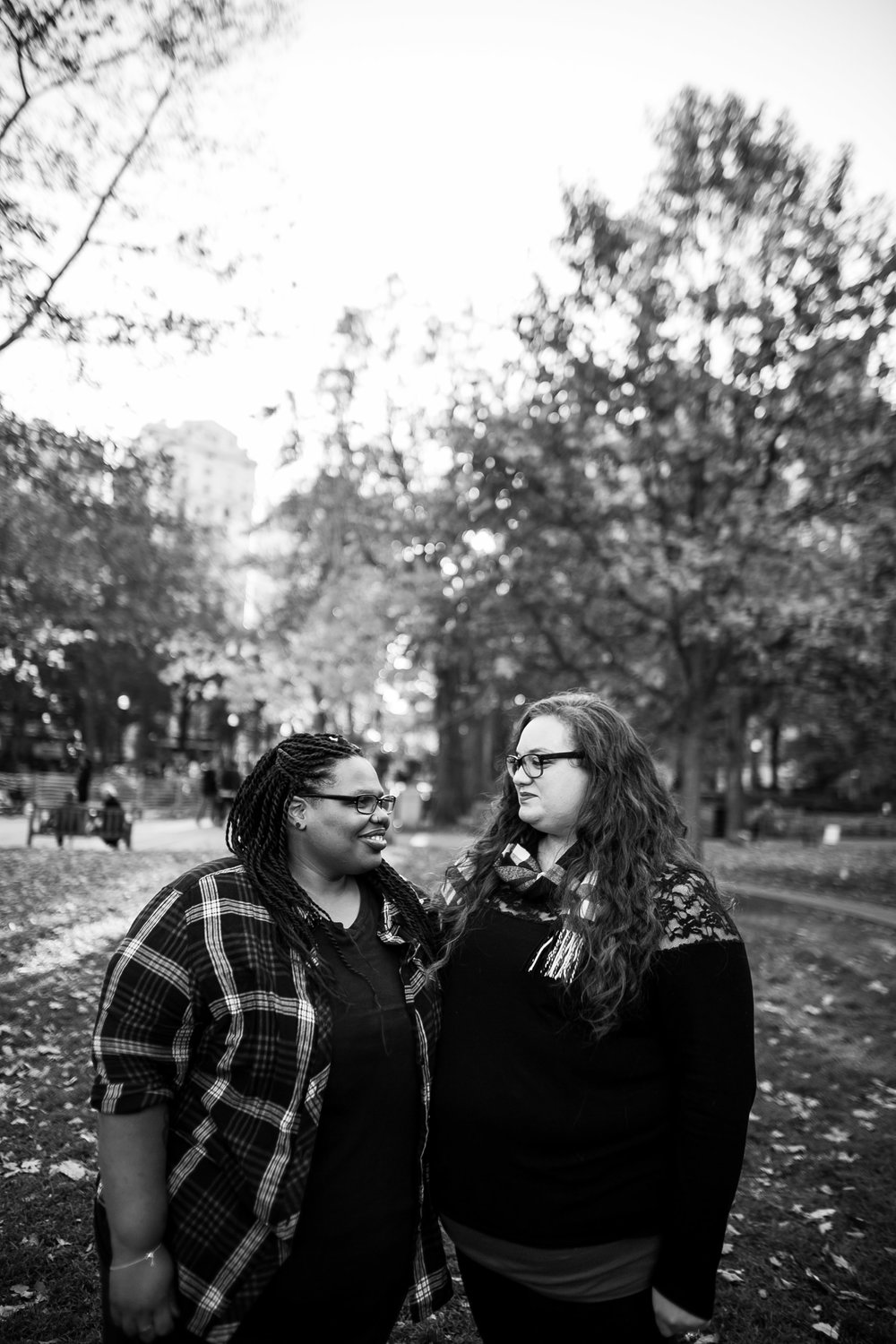 Rittenhouse Square Philadelphia Lesbian Engagement Session