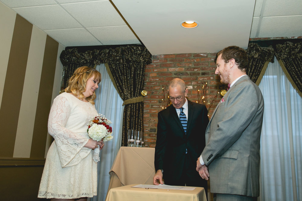 Philadelphia Christmas Wedding at Bistro Romano