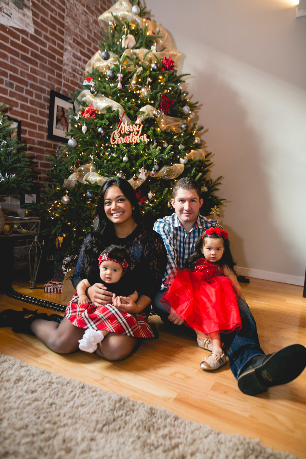 Christmas In Home Family Session in Willow Grove PA
