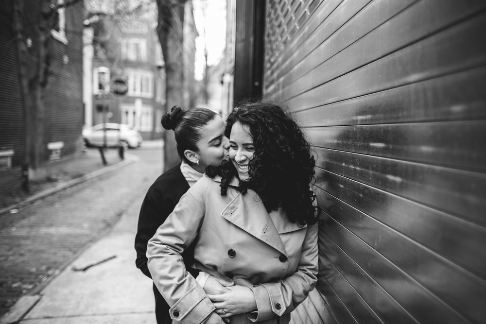 A Lesbian Center City Philly Engagement Session