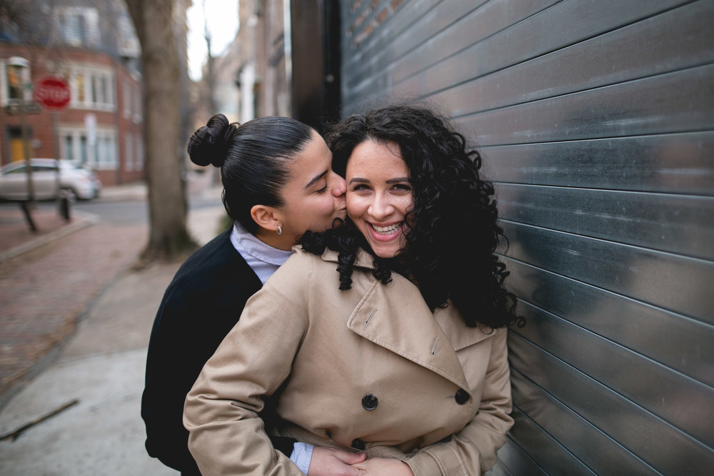 Center City Philadelphia Engagement Session for LGBTQ Couple