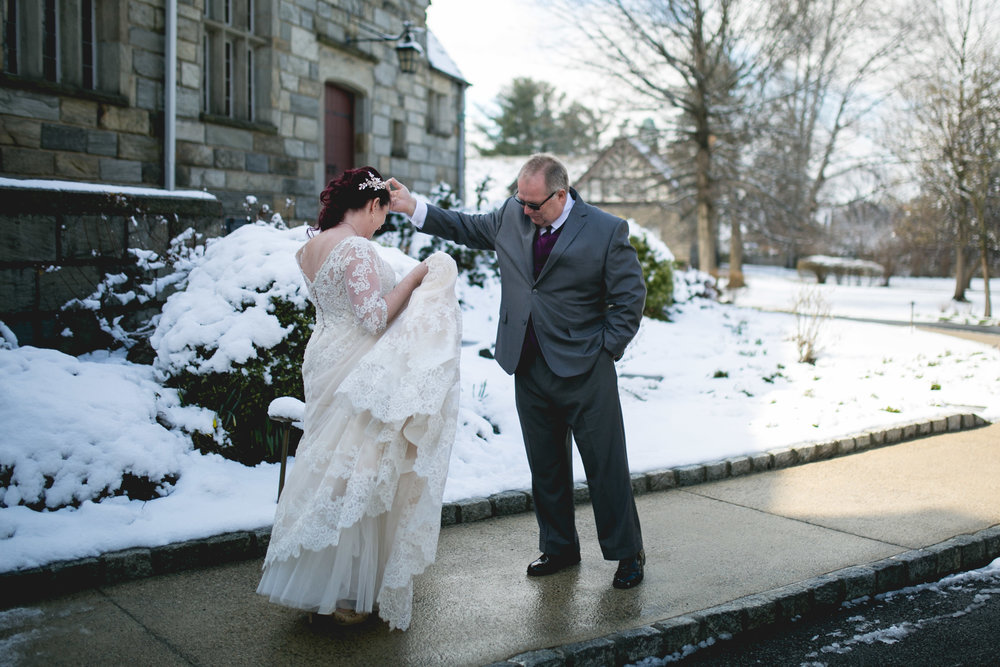 Merion Tribute House Winter Wedding 13