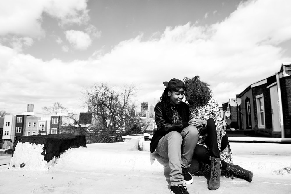 Lesbian Philadelphia Rooftop Shoot 7