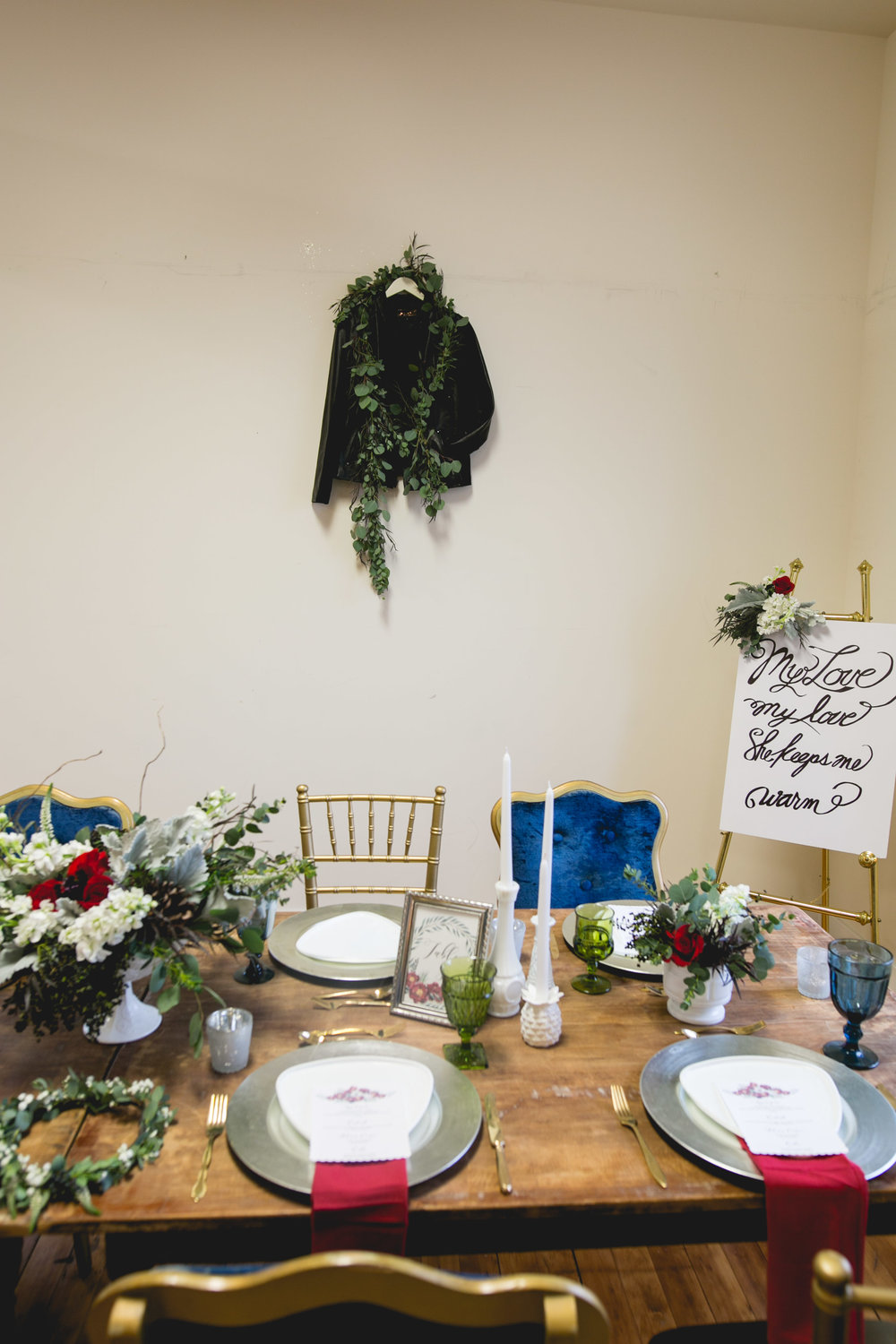 Patriotic LGBTQ Winter Styled Wedding 4