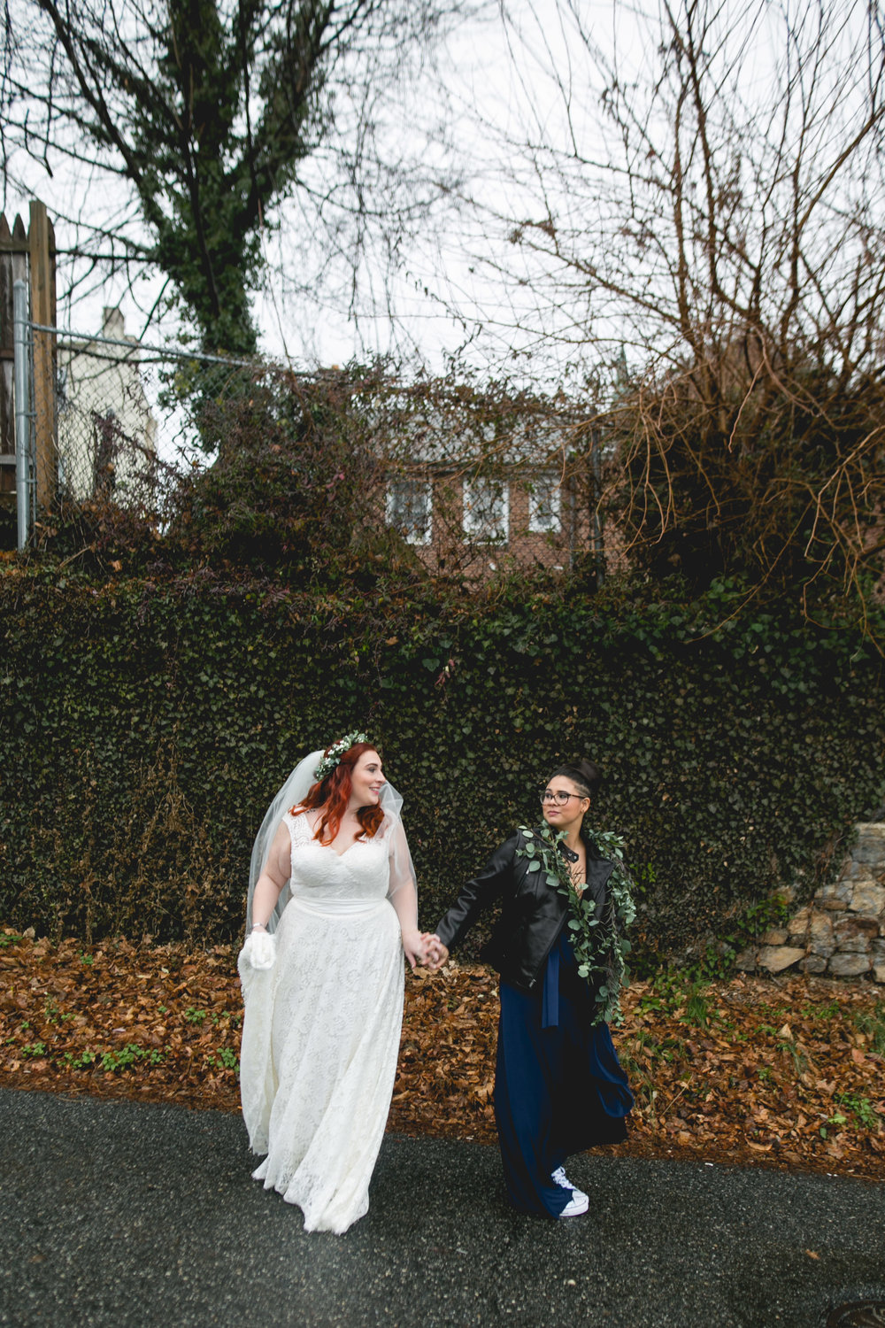 Patriotic LGBTQ Winter Styled Wedding 17