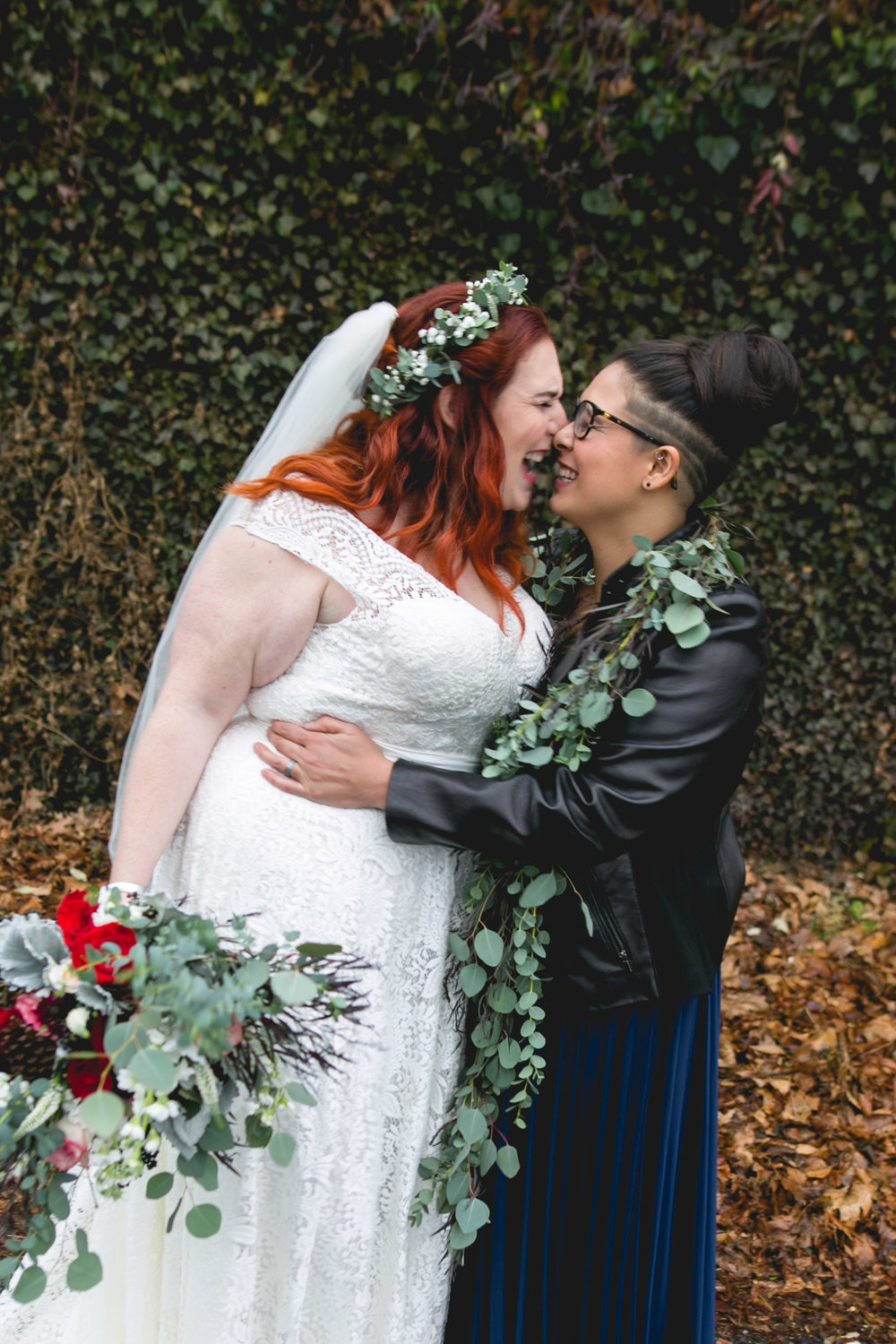 Patriotic LGBTQ Winter Styled Wedding 22