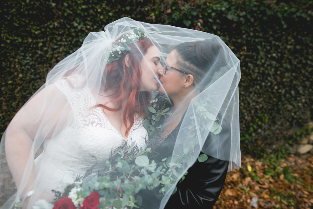 Patriotic LGBTQ Winter Styled Wedding 21
