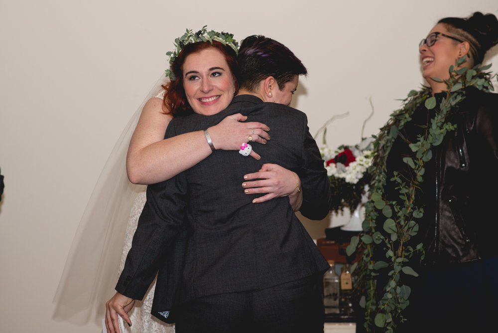 Patriotic LGBTQ Winter Styled Wedding 47