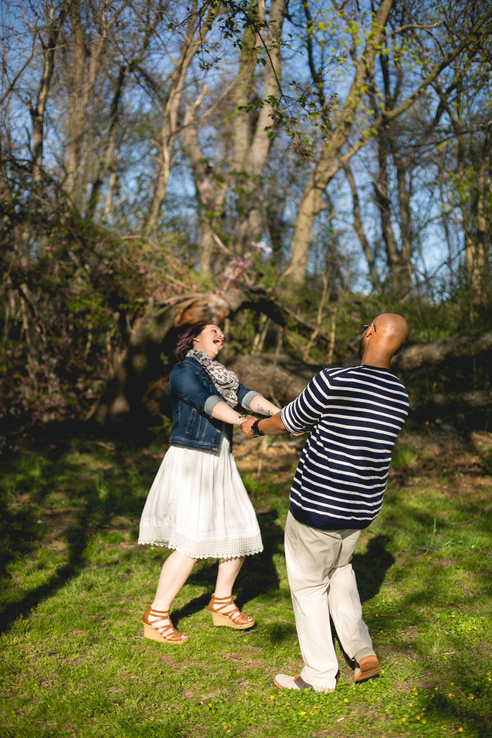 Philadelphia Spring Interacial Vibrant Engagement Shoot 3
