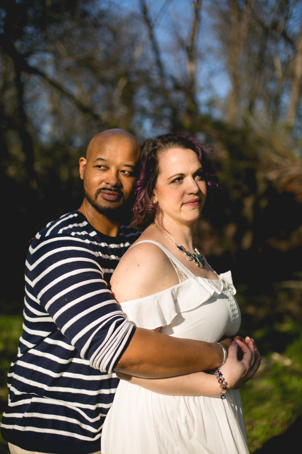 Philadelphia Spring Interacial Vibrant Engagement Shoot
