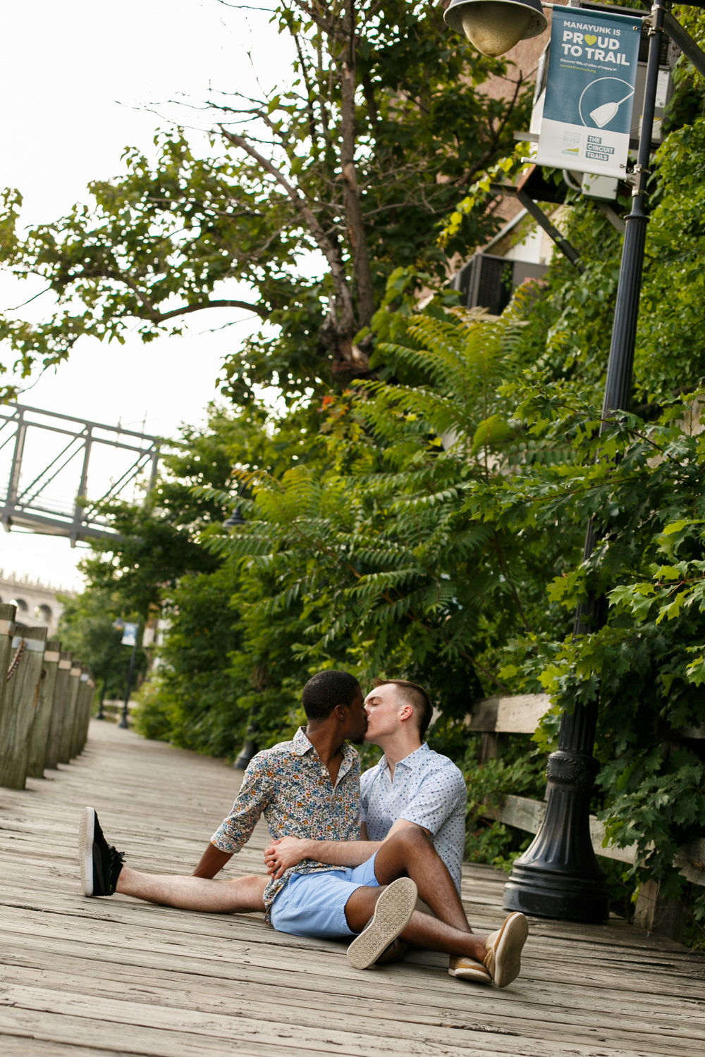Queer Love Portrait Session Manayunk Philadelphia 11