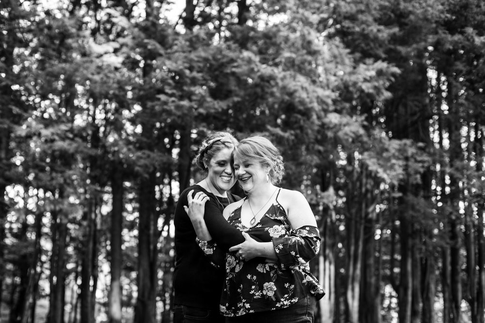 LGBT Posing Help and Lesbian Engagement Session at Ridley Creek State Park