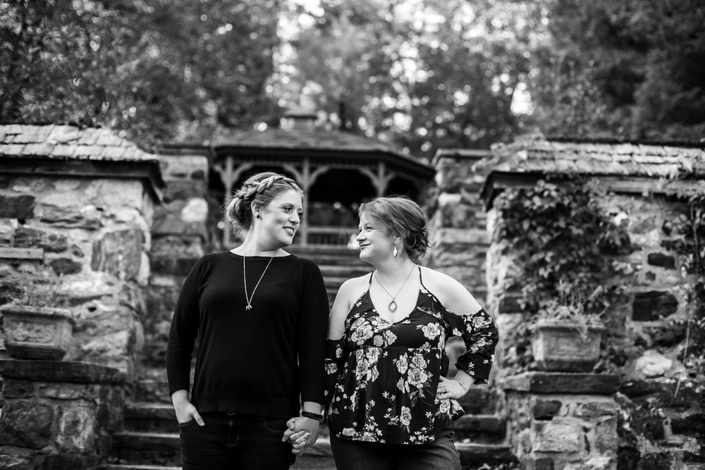 LGBTQ Posing for Lesbian Engagement Session