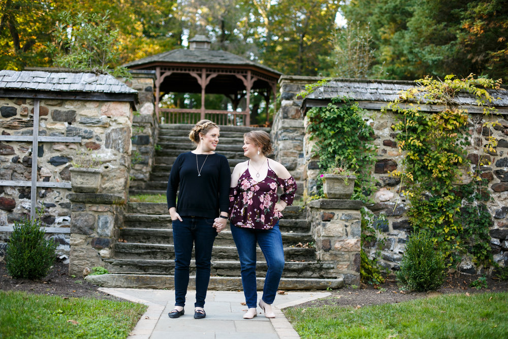 Fall Engagement Shoot Lesbian Couple at Ridley Creek Park