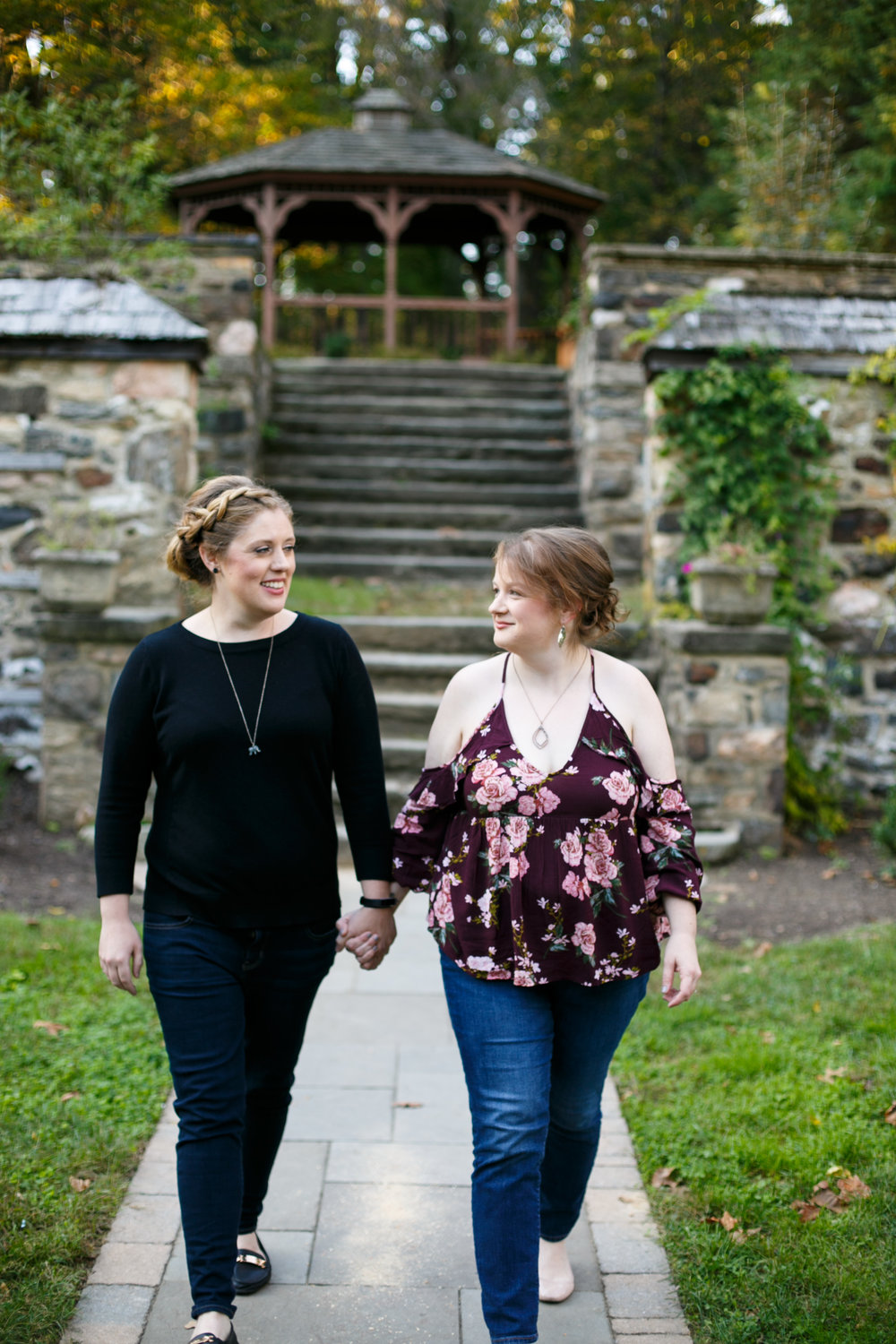 Fall Engagement Shoot Lesbian Couple at Ridley Creek Park 2