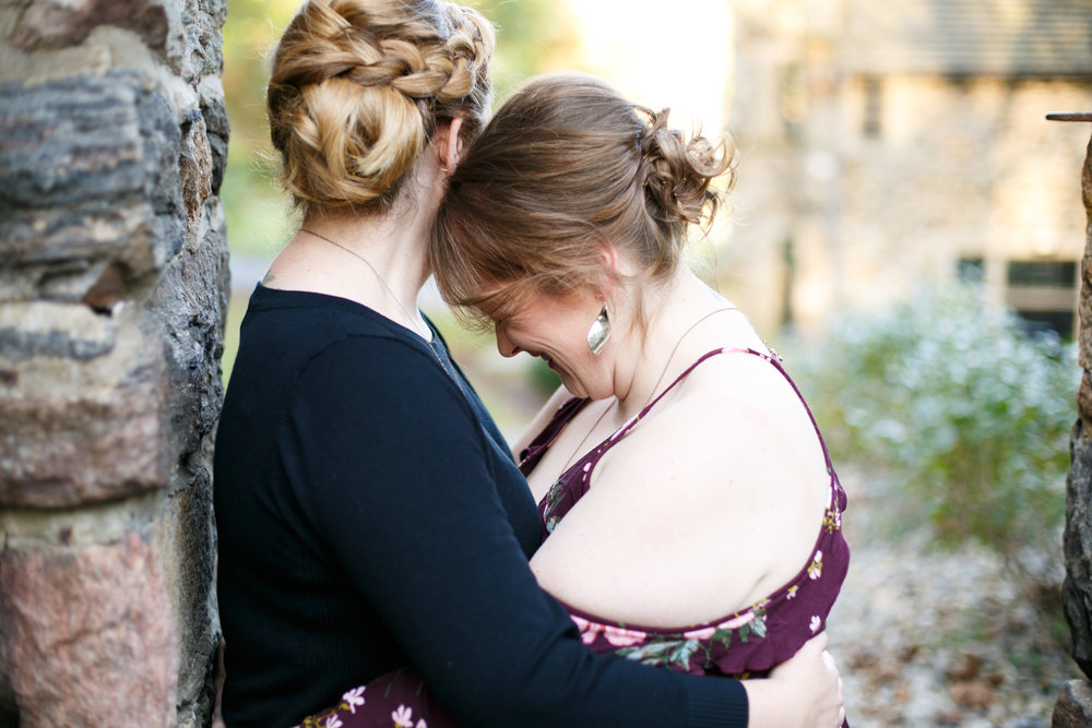 Fall Engagement Shoot Lesbian Couple at Ridley Creek Park 6