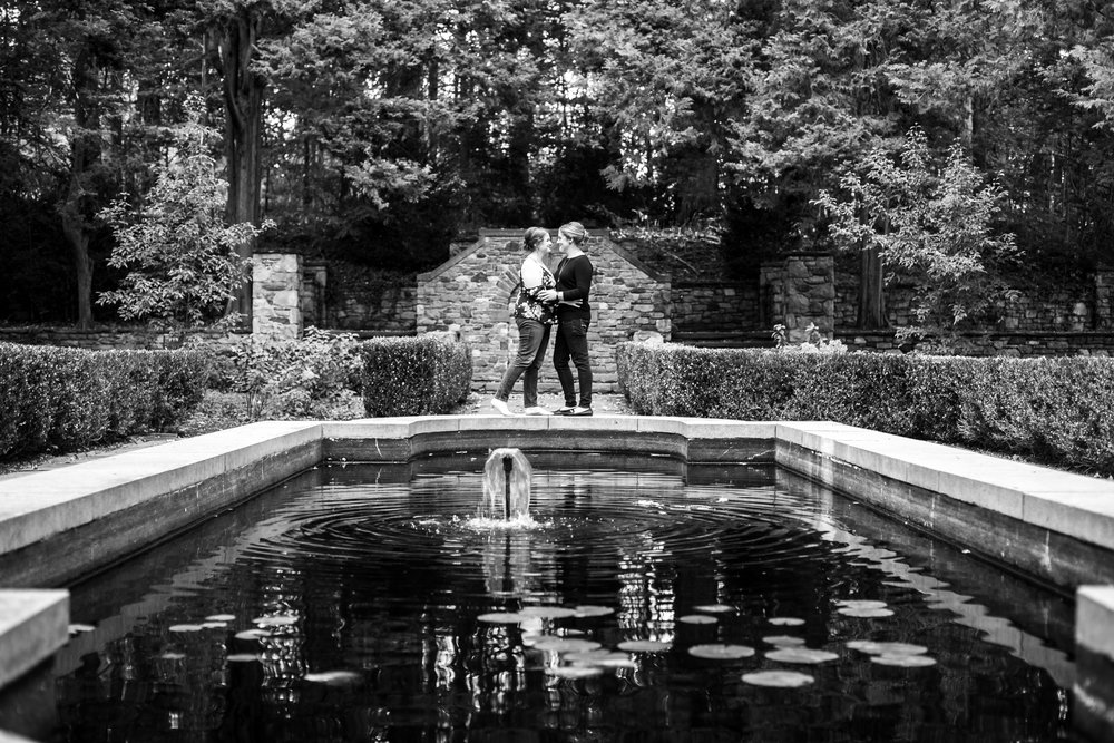 Fall Engagement Shoot Lesbian Couple at Ridley Creek Park 10