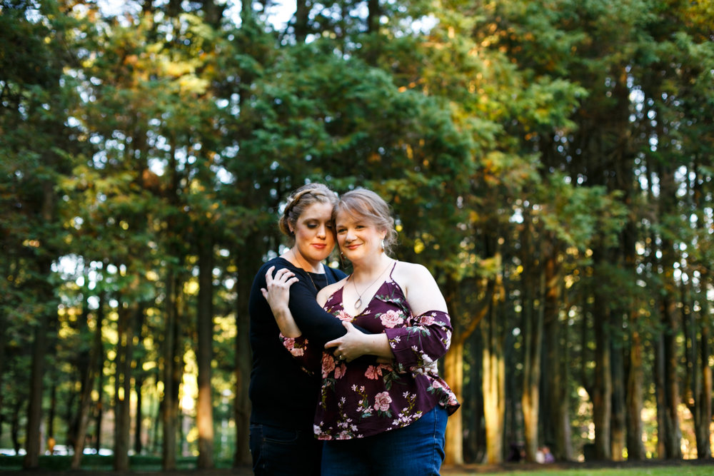 LGBTQ Posing for Lesbian Engagement Session 12