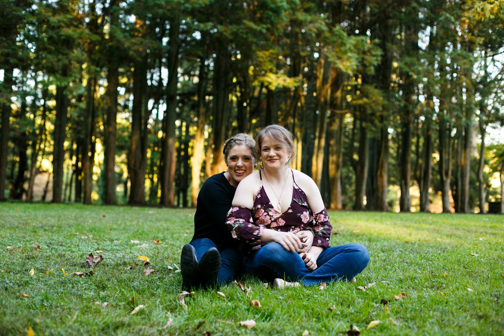 Fall Engagement Shoot Lesbian Couple at Ridley Creek Park 13