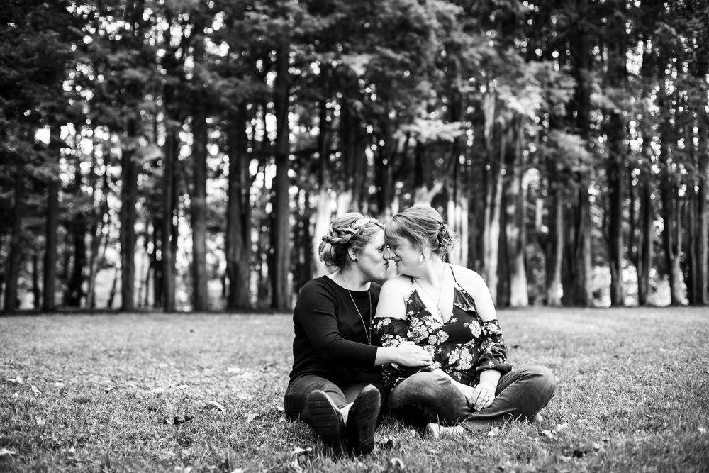Fall Engagement Shoot Lesbian Couple at Ridley Creek Park 14
