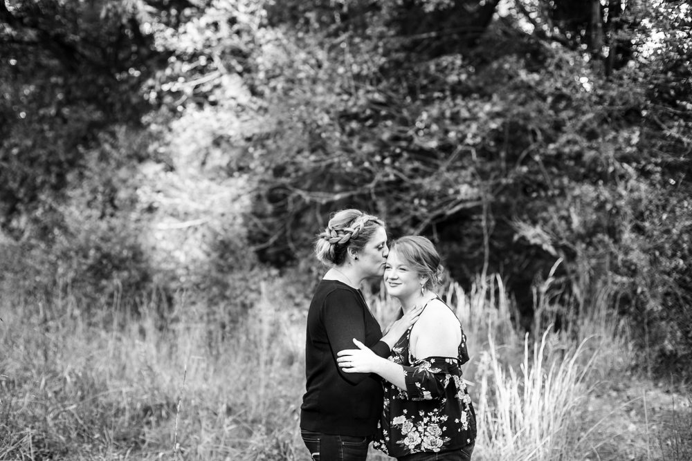 LGBTQ Posing for Lesbian Engagement Session 16