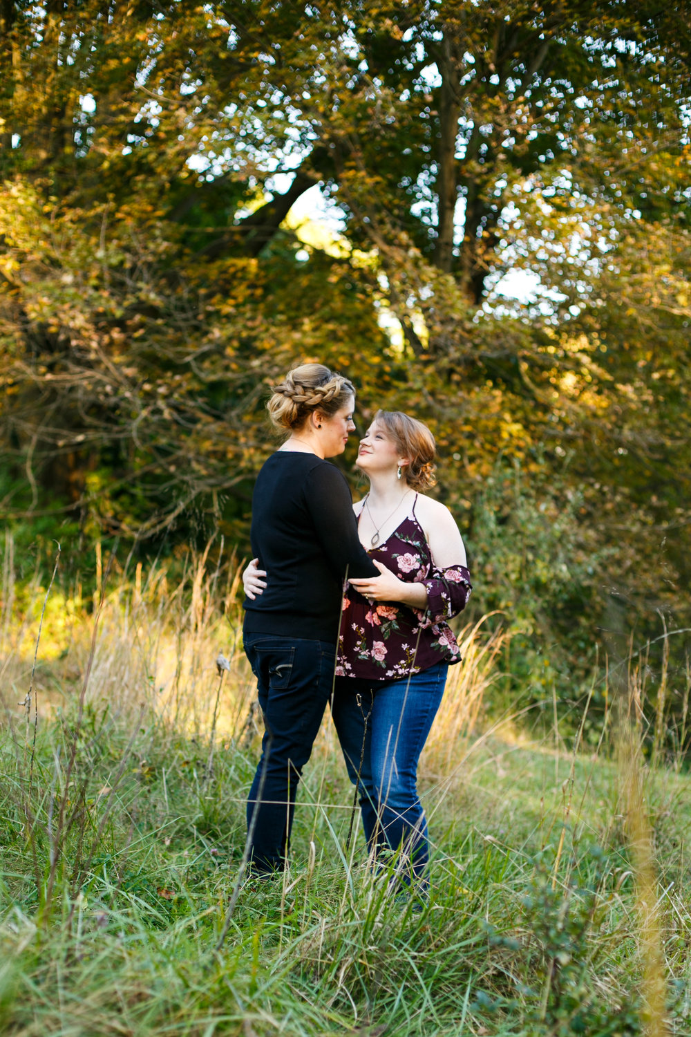 Fall Engagement Shoot Lesbian Couple at Ridley Creek Park 16
