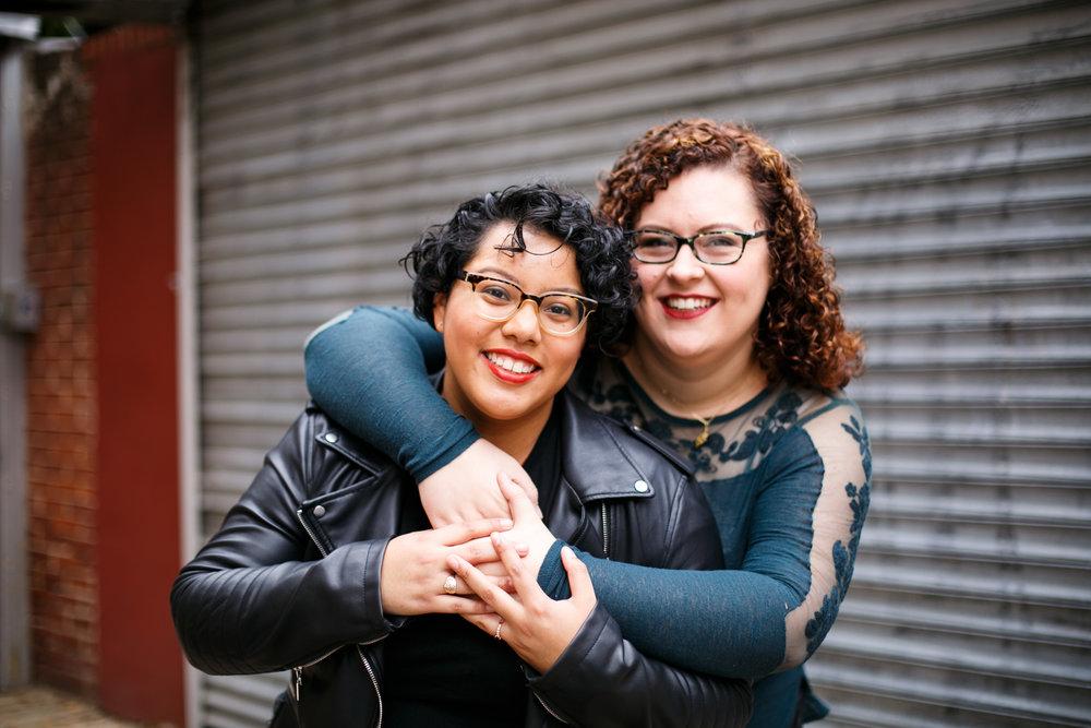 Philly Lesbian Photographer Magic Gardens Engagement Shoot 3