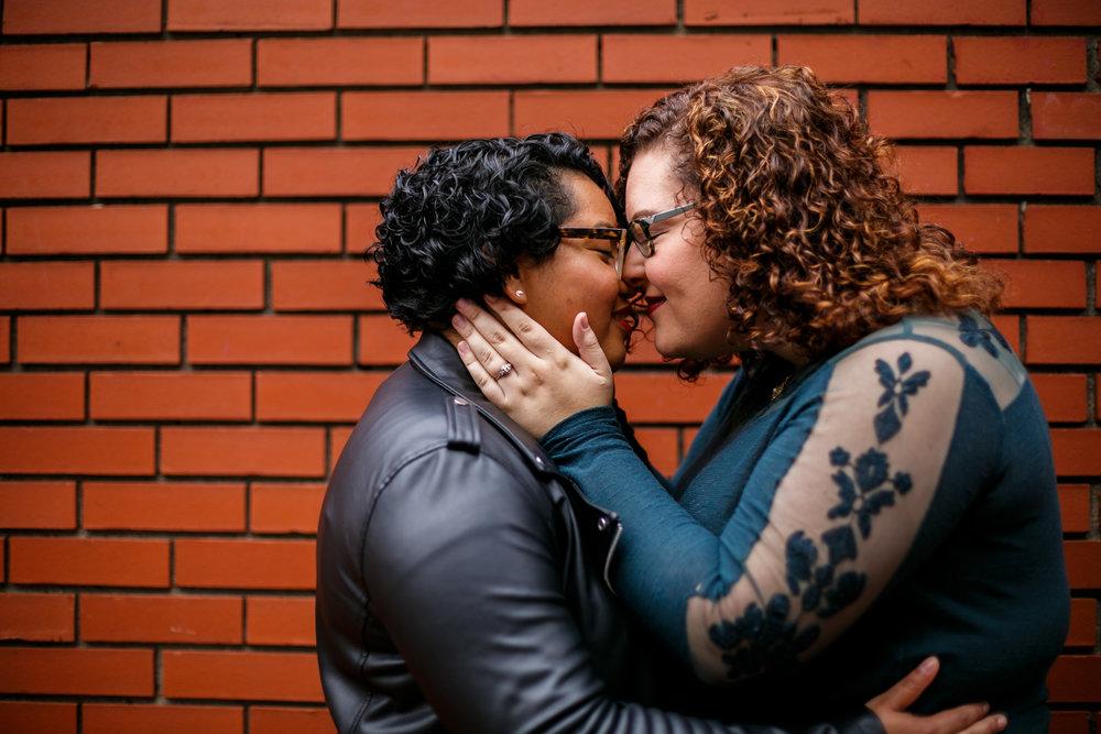 Philly Lesbian Photographer Magic Gardens Engagement Shoot 4