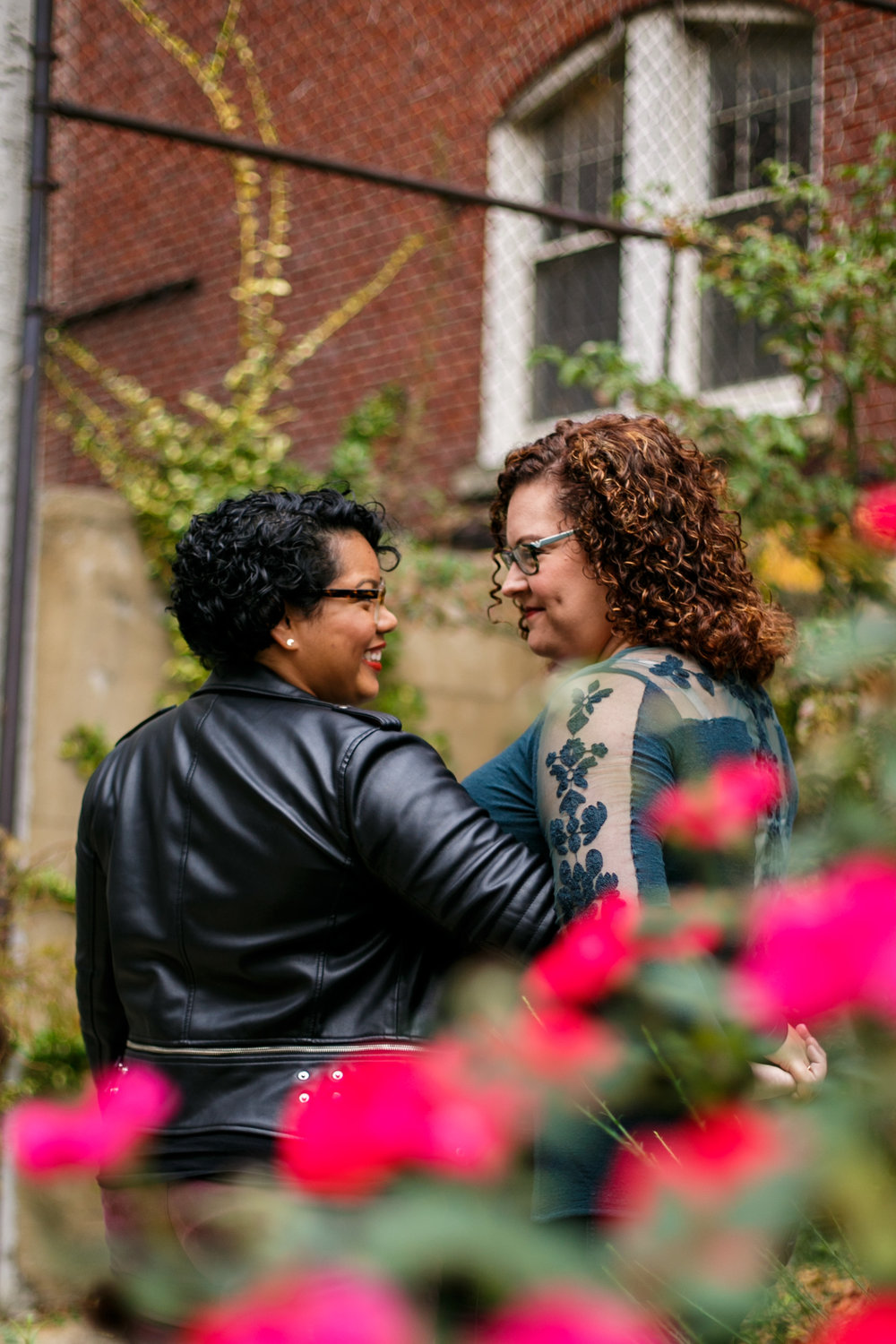 Philly Lesbian Photographer Magic Gardens Engagement Shoot 6