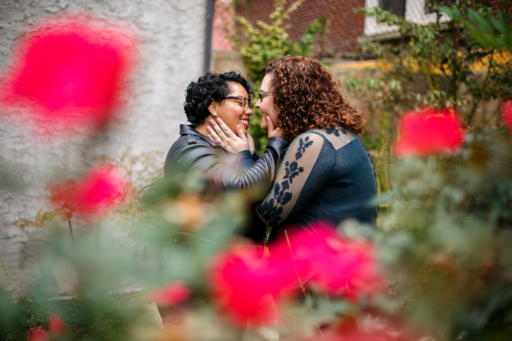 Philly Lesbian Photographer Magic Gardens Engagement Shoot 7