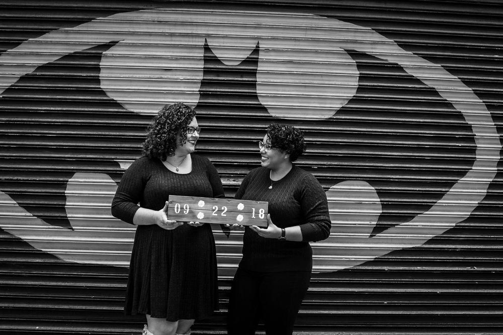 Philly Lesbian Photographer Magic Gardens Engagement Shoot 8