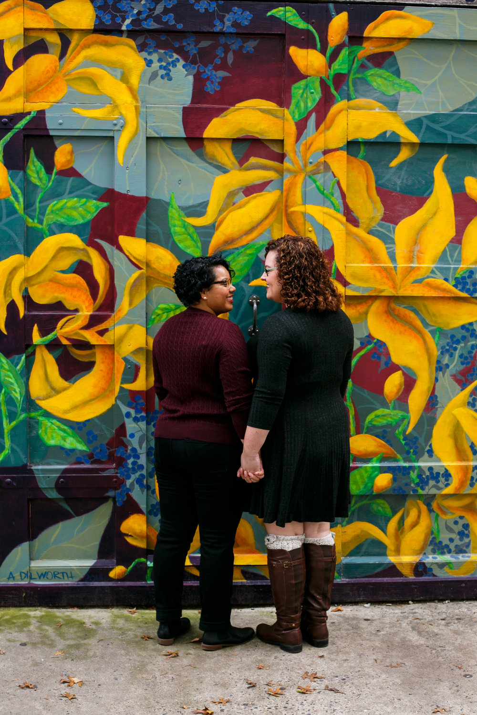 Philly Lesbian Photographer Magic Gardens Engagement Shoot 10