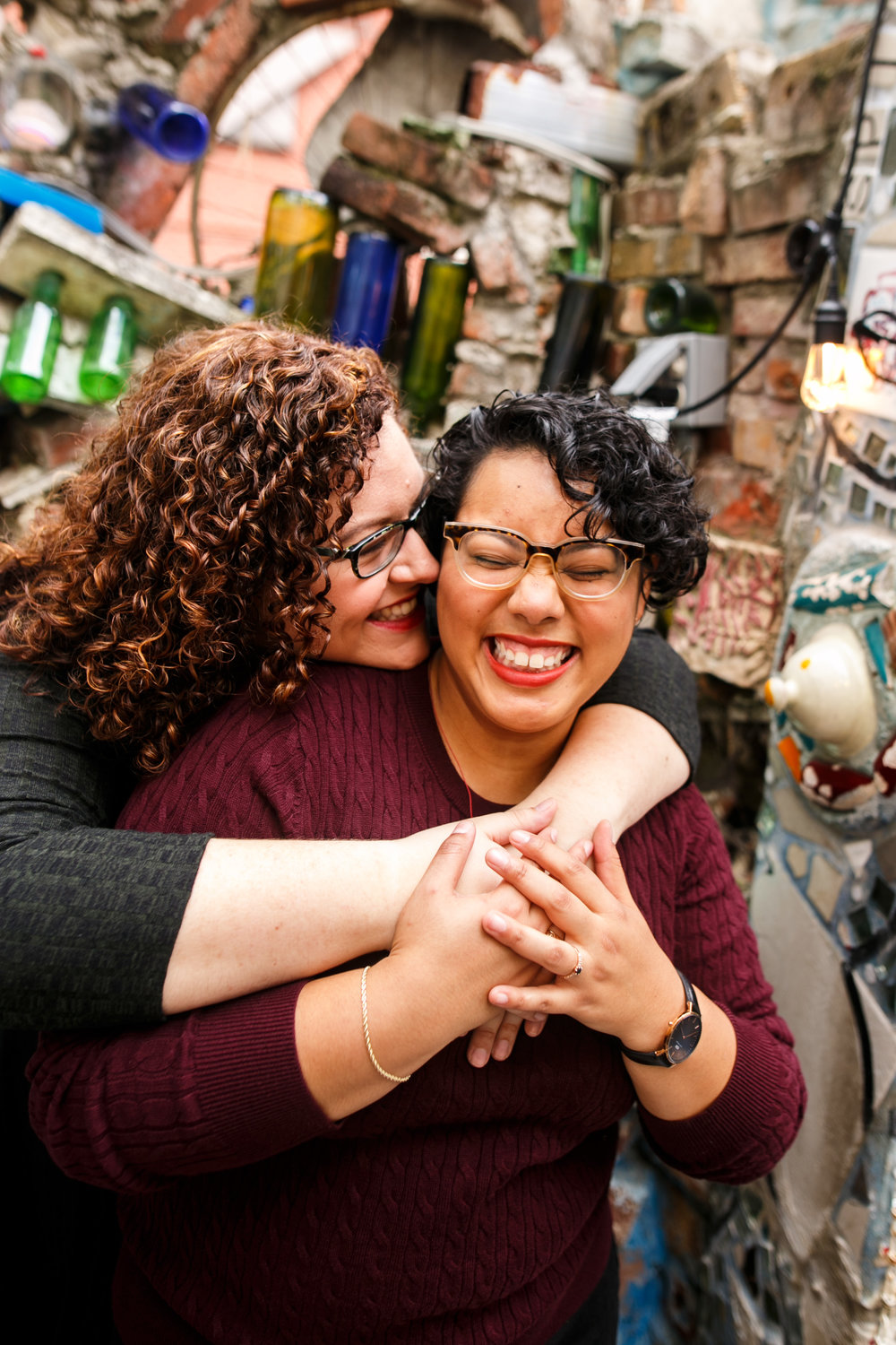 Philly Lesbian Photographer Magic Gardens Engagement Shoot 12