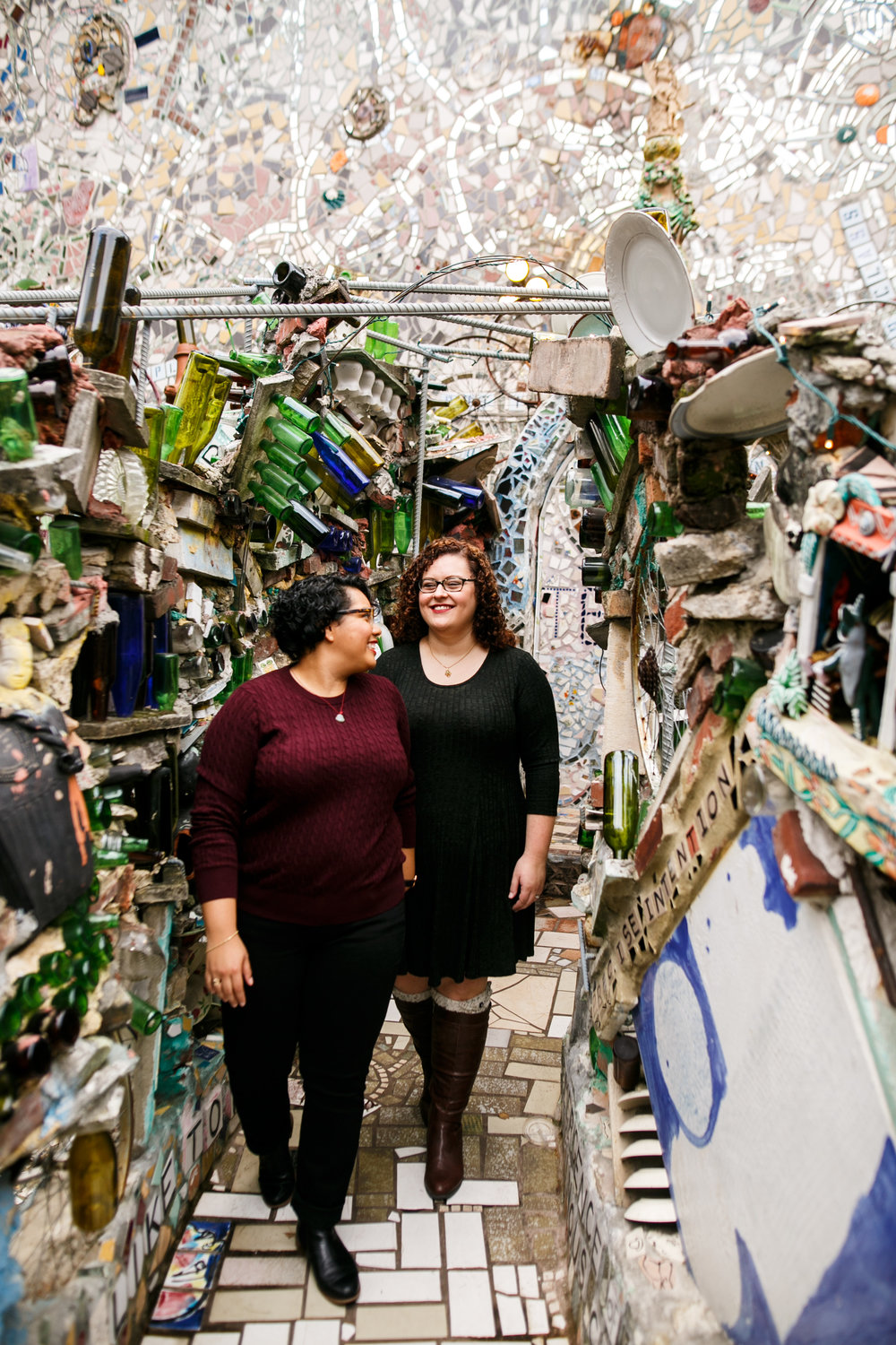 Philly Lesbian Photographer Magic Gardens Engagement Shoot 13