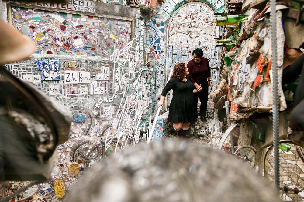 Philly Lesbian Photographer Magic Gardens Engagement Shoot 14