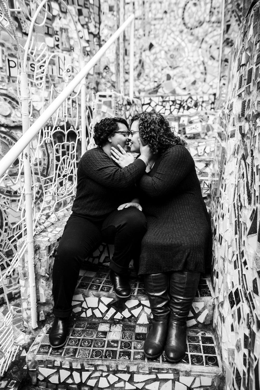 Magic Gardens Philadelphia LGBTQ Engagement Session 15