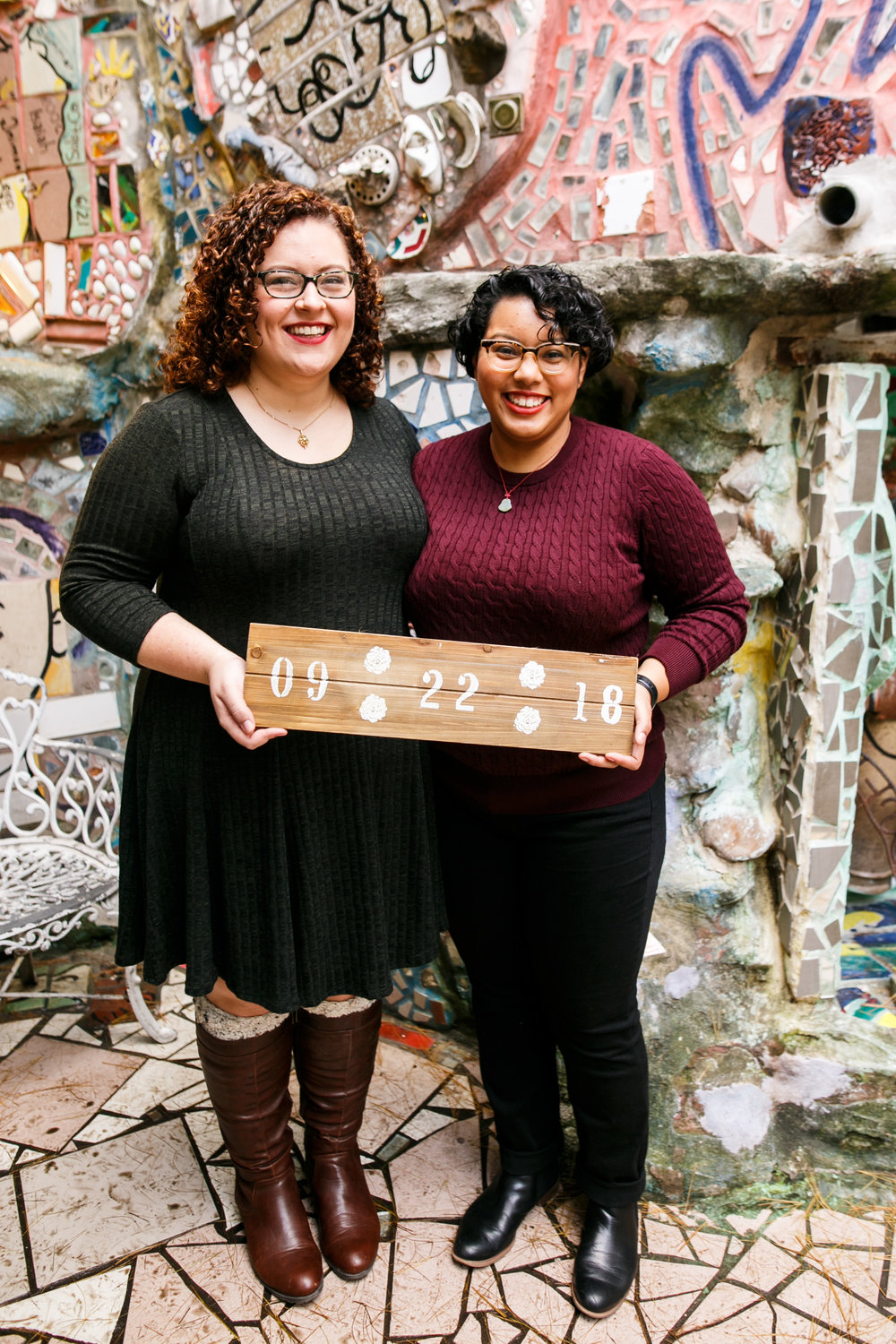 Philly Lesbian Photographer Magic Gardens Engagement Shoot 15