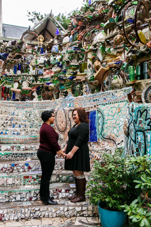 Philly Lesbian Photographer Magic Gardens Engagement Shoot 16