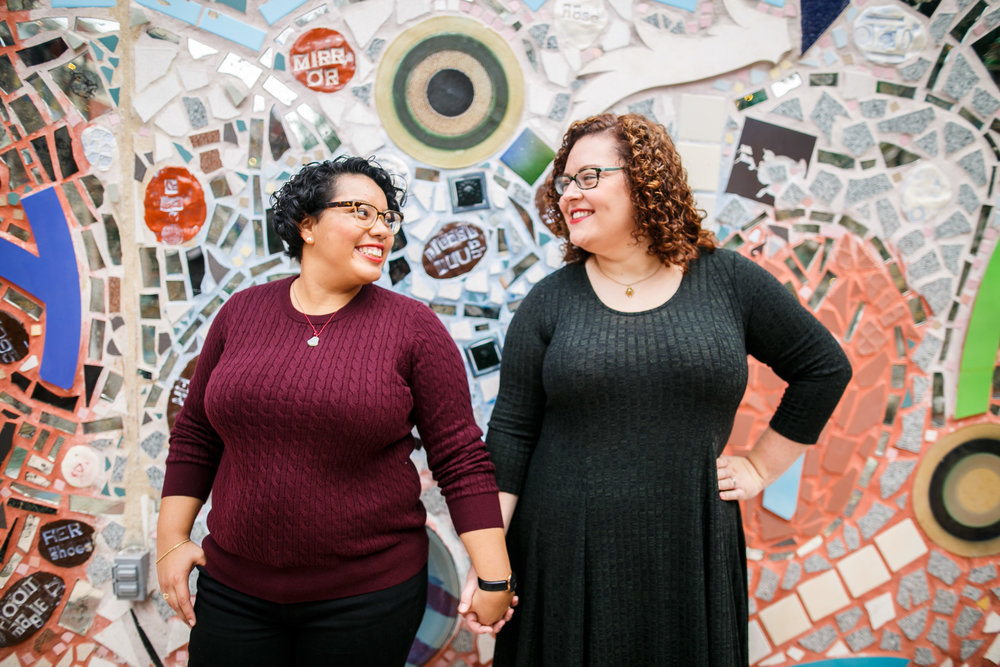 Philly Lesbian Photographer Magic Gardens Engagement Shoot 18