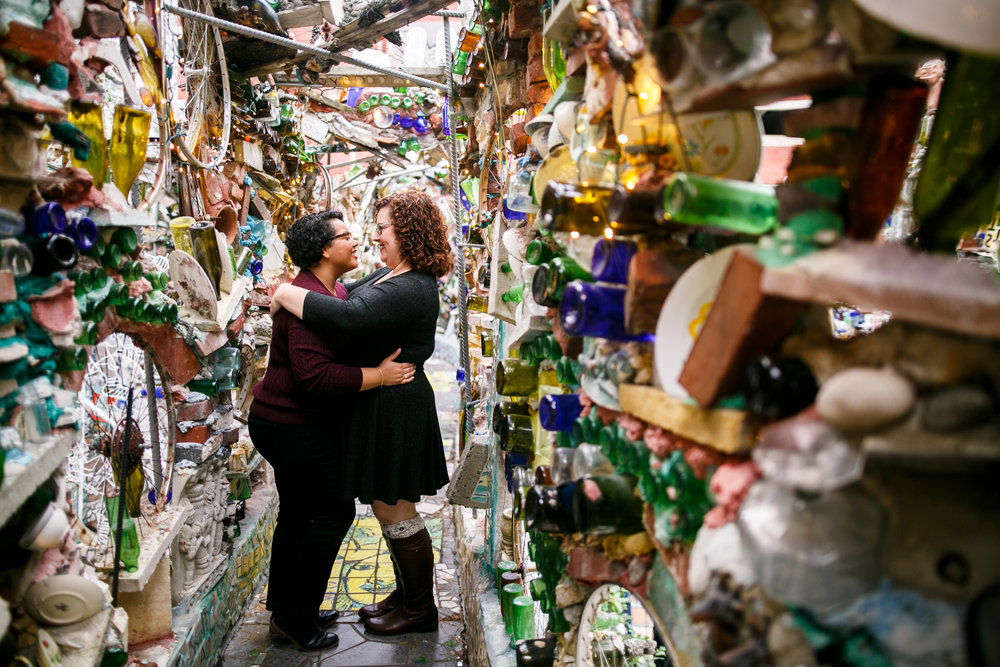 Philly Lesbian Photographer Magic Gardens Engagement Shoot 19