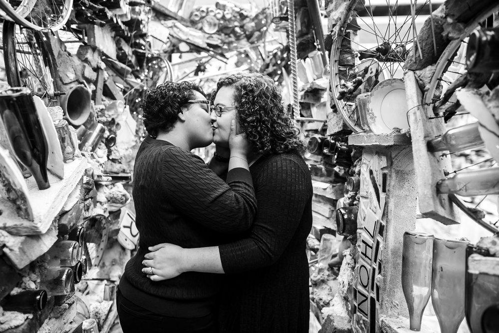 Philly Lesbian Photographer Magic Gardens Engagement Shoot 21